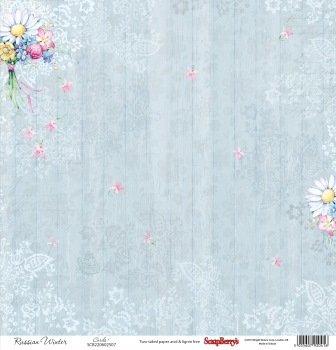 Double-sided Paper Collection Set (12*12-180GSM) Summer Joy - Wild Flowers Bunch ,1 Sheet, Sold in Multipack of 10