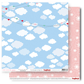 Double-Sided Paper (12*12 – 190gsm) You And Me - Love Is In The Air (Single Sheet)