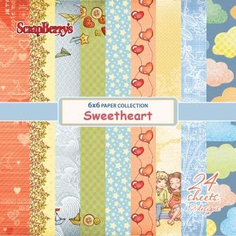 Sweetheart-Paper Set 6*6 170gsm (24 sheets per pack)