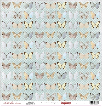 Single-sided Paper Set Butterflies - Butterfly (12*12–190GSM), 10 Sheet Pack