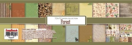 Forest Paper Set 12x12 190gsm (11 sheets per pack)