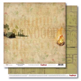 Double-sided paper 12x12 Forest Far Away From Civilization 190gsm (10 sheets per pack)