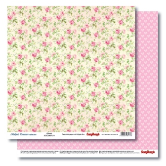 Double-sided Paper Set Mother's Treasure - Cherubs (12*12–190GSM), 10 Sheet Pack