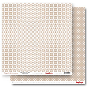 Double-sided Paper Set Elegantly Simple (Daisy Chains) Iced Coffee (12*12–190GSM), 10 Sheet Pack