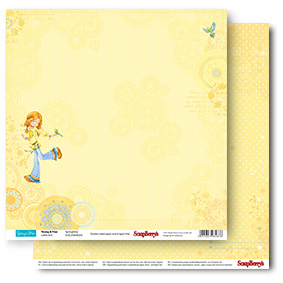 Double-sided Paper Set Young and Free - Springtime (12*12–190GSM), 10 Sheet Pack