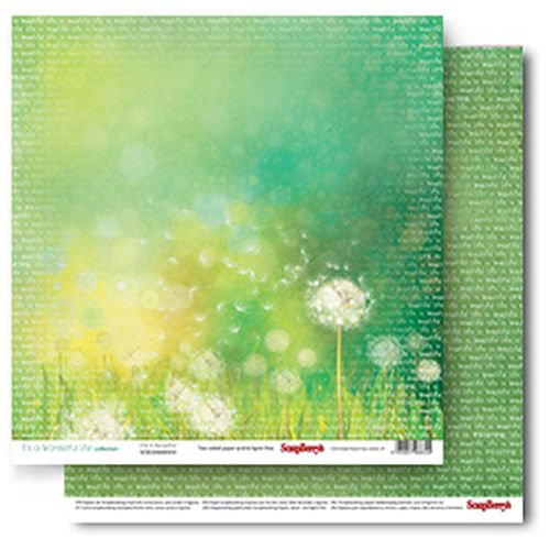 Double-sided Paper Set (12*12-190GSM) It's A Wonderful Life - Life Is Beautiful , 1 Sheet