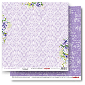 Double-sided Paper Set (12*12-190GSM) Happily Ever After - Wedding Day , 1 Sheet