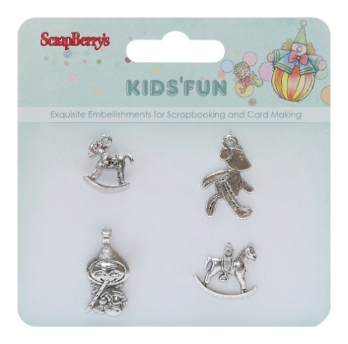 Metal charms set Kids' Fun, 4 pcs