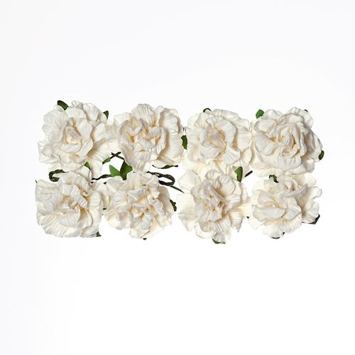 Paper Flowers Clove White (8 Pieces Per Pack)