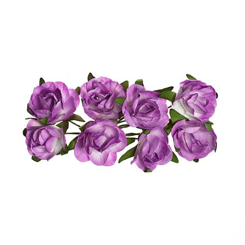 Paper Flowers – Rose – Lilac (8 Pieces Per Pack)
