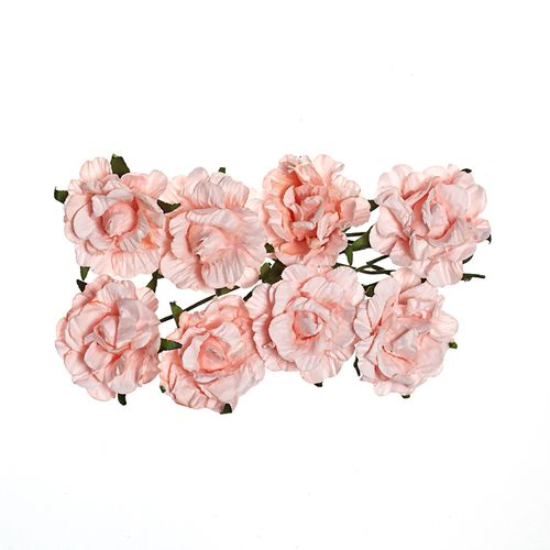 Paper Flowers - Curly Rose – Light Pink (8 Pieces Per Pack)