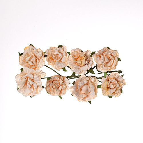 Paper Flowers - Curly Rose – Peach (8 Pieces Per Pack)