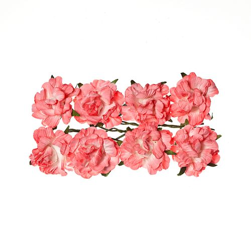 Paper Flowers - Curly Rose – Pink (8 Pieces Per Pack)