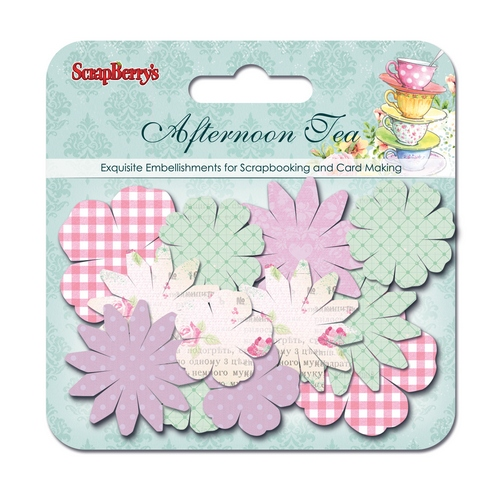 Paper printed blossoms Afternoon Tea, 24 pcs