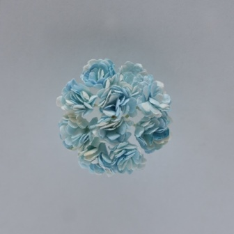 Chrysanthemum, set of 10 pieces, diameter 1 cm, light blue