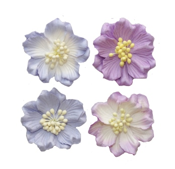 Gardenia mix pink, set 4 pcs, dia 5cm