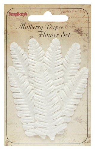 Set of Leaves (7 Pieces per pack) Fern White