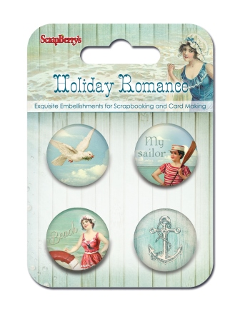 Set of decorative metal elements Holiday Romance No. 1