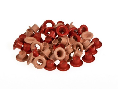 Set of eyelets 4.8 mm, 50 pcs , red