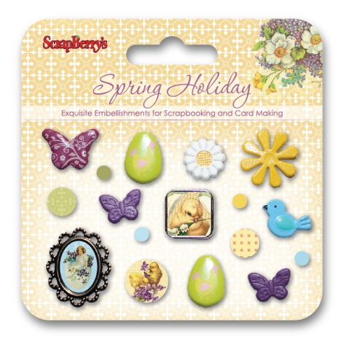Set of decorative brads Spring Holiday