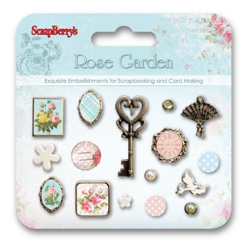 Set of decorative brads Rose Garden