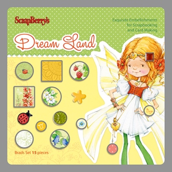Set of brads 15 pcs Dream Land 2