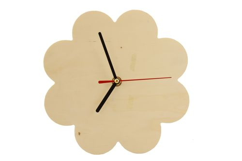 Wooden blank clock daisy (with clockwork) diameter - 20cm