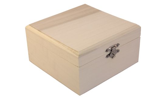 Wooden box - rectangular 13X13X7сm