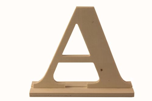 Wooden letter * A * 17x4x15сm