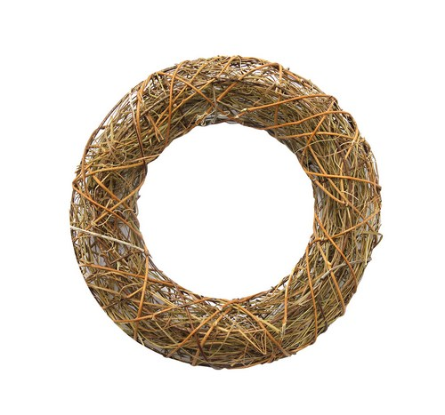 Wreath with straw, 25cm