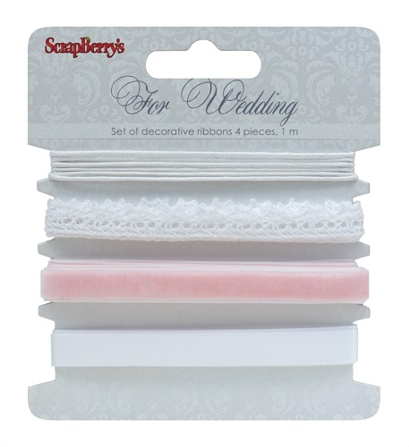 Set of decorative ribbons, For Wedding, 4 pieces, 1m each