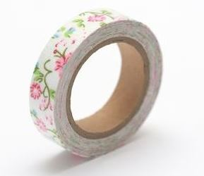 Cotton tape with floral print №34 15mm*4m SCB490039