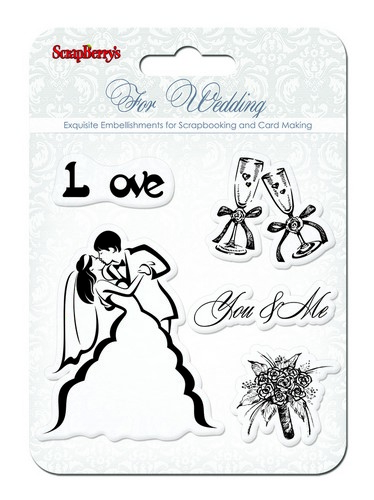 Set of stamps 10,5*10,5cm Wedding. You&Me SCB4901010b