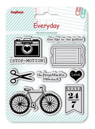 Set of Clear Stamps (10,5*10,5cm) Every Day - Stop-motion
