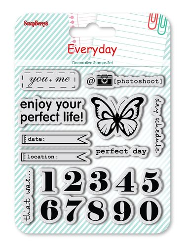 Set of Clear Stamps (10,5*10,5cm) Every day - Numbers