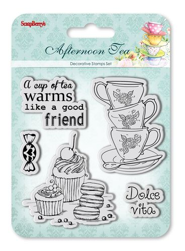 Set of Clear Stamps (10,5*10,5cm) Afternoon Tea - Dolce Vita