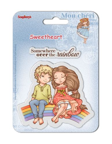 Set of clear stamps (10,5*10,5cm) Sweetheart – Over The Rainbow