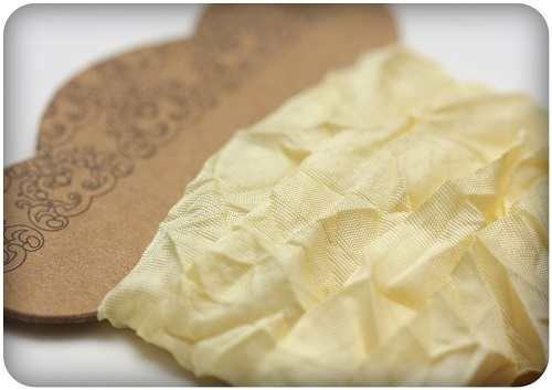 Shabby ribbon, light yellow, 10mm, 1m