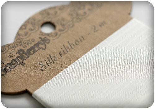 Silk ribbon, white, 25mm, 2 m