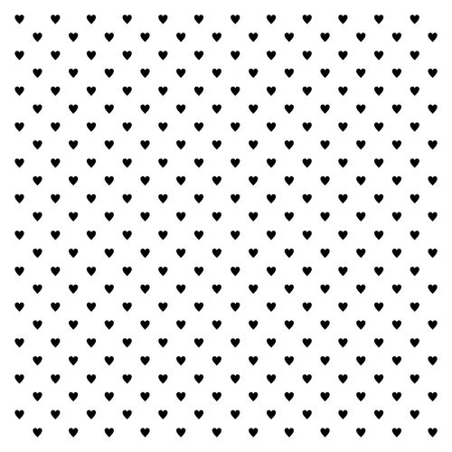 Stencil Mini-hearts 15,2*15,2cm thickness 0,15mm