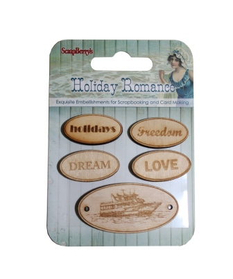 Holiday Romance-Wood-Chip Elements No. 2 (5 pieces per pack)