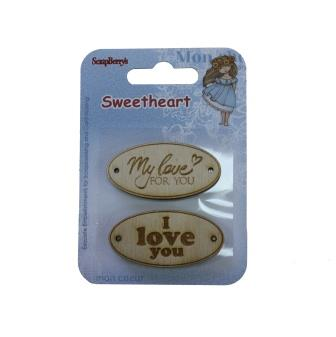 Sweetheart Engraved Wood-Chip Elements No. 1 (2 pieces per pack)