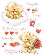 Set of stamps 14*18cm My little Bear To Wonderful couple SCB071202b