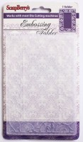 Embossing folder 106*150mm SCROLLWORK FRAME