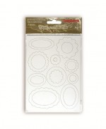 Chipboard die cuts White tags, 2cards