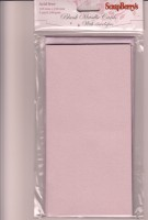 Blank cards 105*210mm, 240 gsm LILAC METALLIC, 5 cards with envelopes, pack