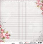 Single-sided Paper Set (12*12-180GSM) Elegy - Peonies , 1 Sheet