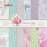 Paper Collection Set Summer Joy (6*6-190GSM), 24 Single Sided Sheet Pack