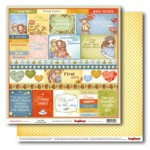 Double-Sided Paper (12*12 - 190gsm) Sweetheart You & Me , 10 Sheet Pack