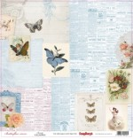 Single-sided Paper Set Butterflies - Beauty (12*12–190GSM), 10 Sheet Pack
